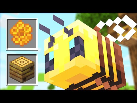 How to use New BEE Mobs Update! (Minecraft 1.15 Snapshot)