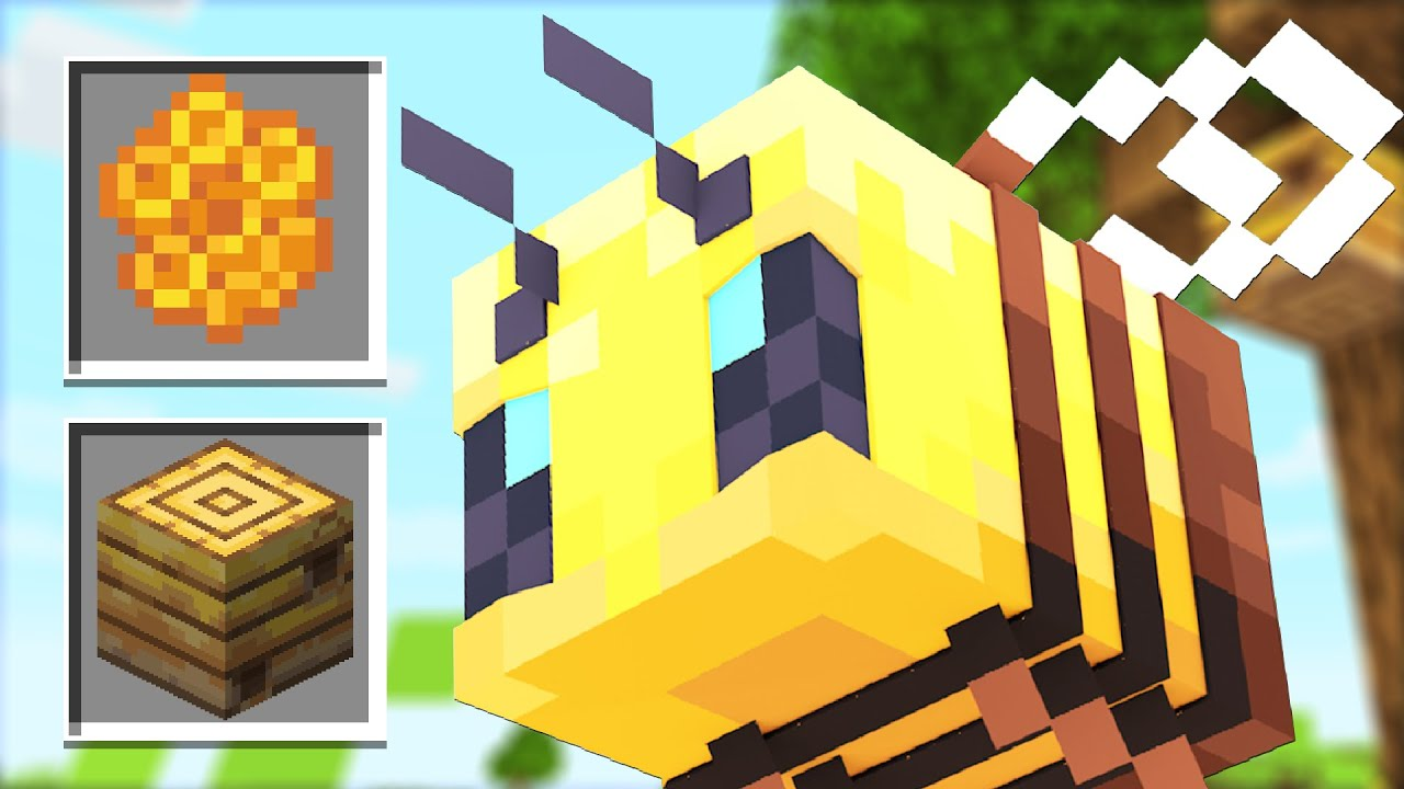 How to use New BEE Mobs Update! (Minecraft 1.15 Snapshot) thumbnail