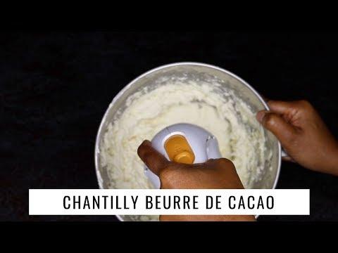 Chantilly beurre de cacao fait maison
