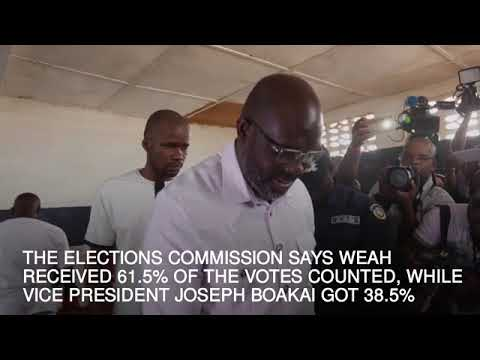 Former footballer George Weah poised to become president of Liberia