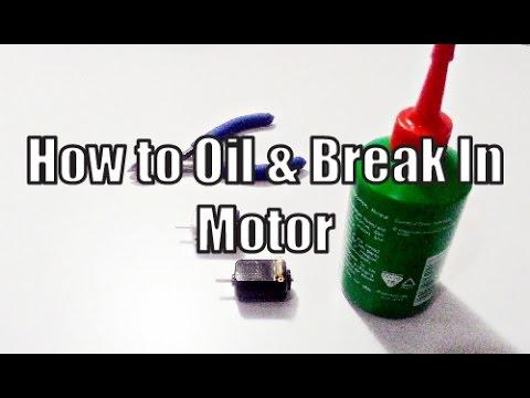 Tamiya Mini 4WD Tutorial How to Break In Mini 4WD Motor using All Purpose Lubrication Oil