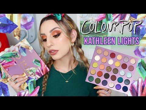 "Colourpop x Kathleen Lights ""So Jaded"" Palette! Tutorial + Swatches thumbnail"