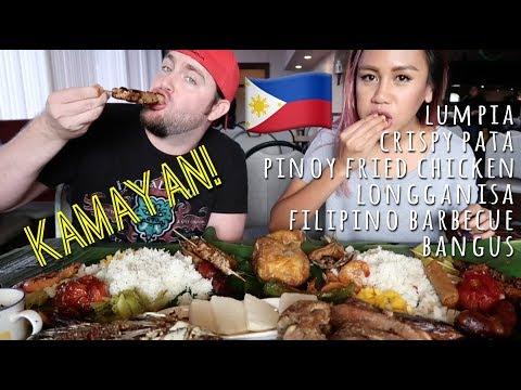 FILIPINO FOOD MUKBANG Kamayan / Boodle Fight, VLOG 3