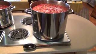 Canning Venison Chilli Cooking All Day.wmv