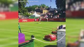 Maria Sharapova slow-mo serve at Hurlingham's Aspall Tennis Classic 2018
