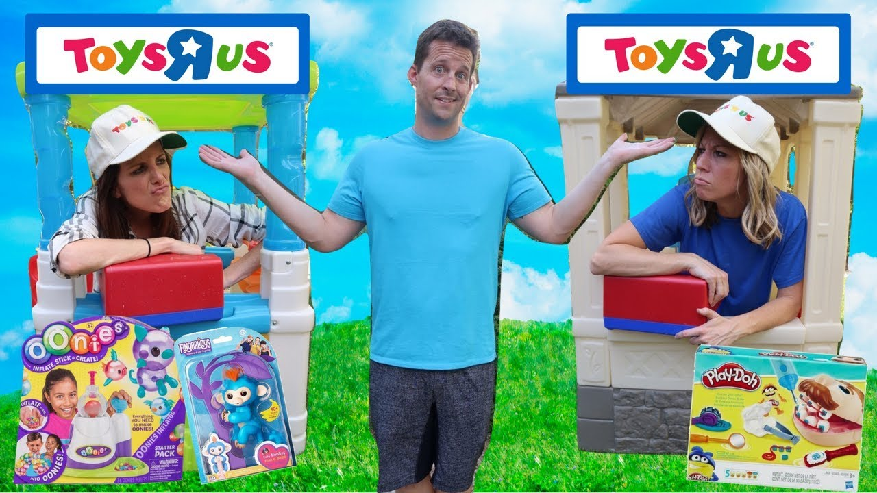pretend toys r us stores compete for business youtube. Black Bedroom Furniture Sets. Home Design Ideas