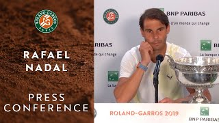Rafael Nadal - Press Conference after his 12th RG Victory | Roland-Garros 2019