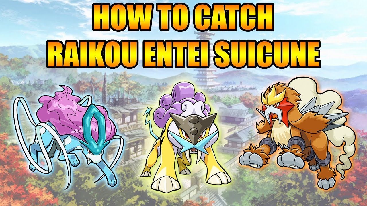 how to catch raikou in gold