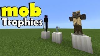 MOB TROPHIES !!! No Mod, No Addon | Minecraft PE (Pocket Edition) MCPE Command Block Trick
