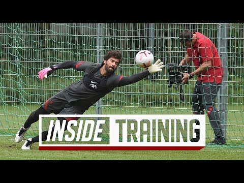 Inside Training: Brilliant goalkeepers session and fast-paced finishing