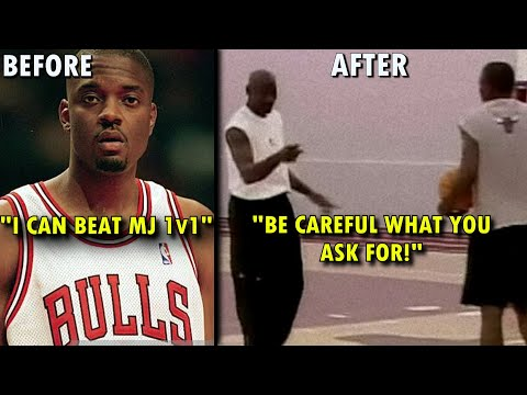 When a RETIRED Michael Jordan DEMOLISHED an Arrogant Bulls ROOKIE!