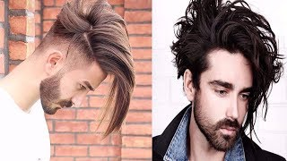 Most Sexy Long Hairstyles for Men 2017-2018-Men's New Long Hairstyles 2017-2019