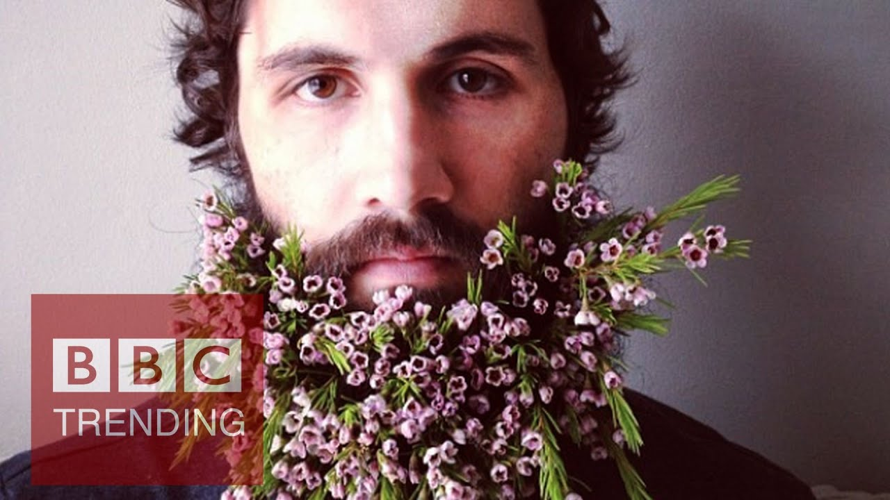 Why men decorate beards with flowers