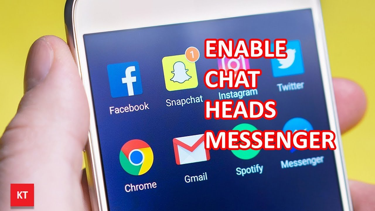 How to turn on chat heads in messenger - YouTube