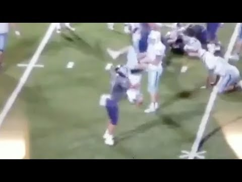 High School Football Player Ejected for POWERBOMBING Opponent