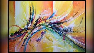 Démonstration peinture abstrait - Lilian Fournier #14