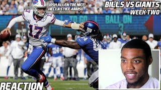 Bills Vs Giants (WK2) |Reaction