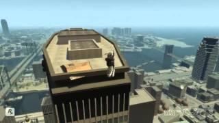 GTA 4 - Аварии, трюки и падения (Stunts and Crashes) #1