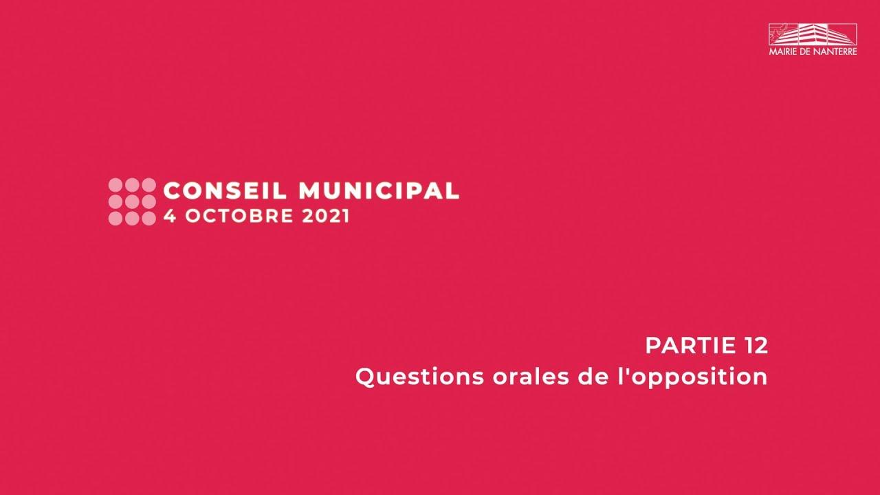 Conseil municipal du 4 octobre 2021 - PARTIE 12