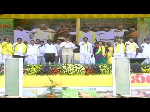 CM Nara Chandrababu Naidu live from the public meeting at Thurakalapatnam village, Anantapur