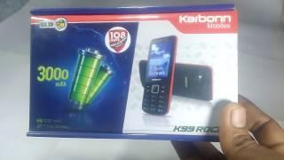 Karbonn K99 Rock Phone Unboxing in Hindi / 3000 Mah Long Battery Phone . 7.1 cm Big screen !
