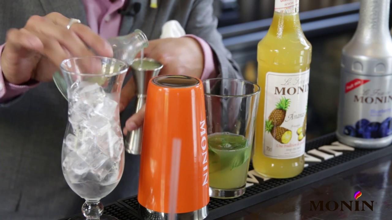 Monin Pineapple Syrup Island S Three Mocktail Youtube