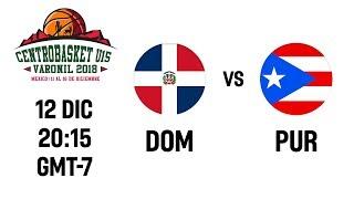 LIVE 🔴 - Dominican Republic v Puerto Rico - Centrobasket U15 Championship 2018