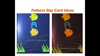How to make father's day greeting card | Easy father's day cards 2018 | ActiveKidsCreativeBees