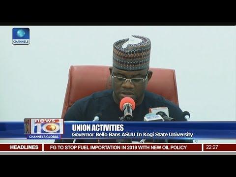 News@10: Gov Bello Bans ASUU In Kogi State University 19/07/17 Pt 2