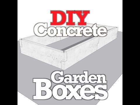 Concrete Garden Box Animated Panel Assembly