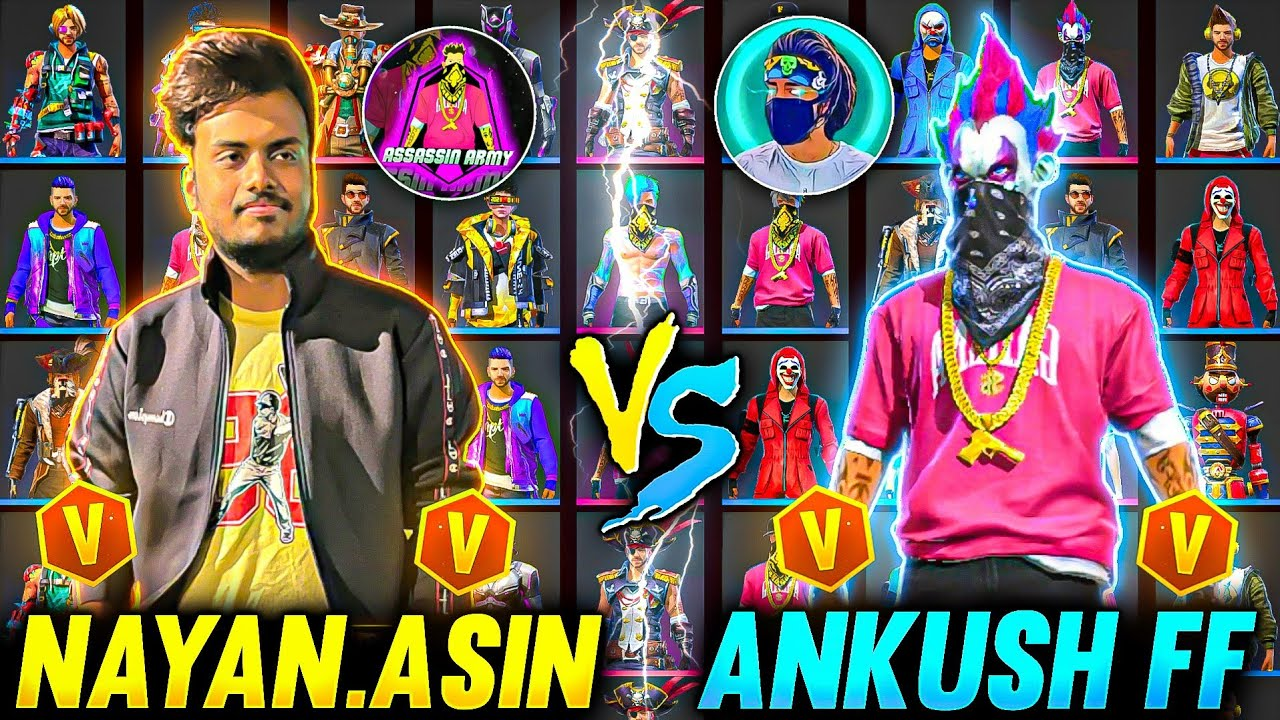 Nayan Vs Ankush Ff Collection Battle 5-5 Hiphop Vs Hiphop Id Rare Items 😱 - Garena Free Fire