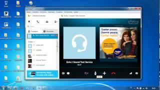 03 Tutorial Skype - Testando audio e microfone