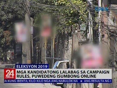 Mga ilegal na campaign material, pinababaklas ng COMELEC sa pagsisimula ng campaign period bukas