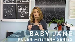 Gina Perkes Designs - Baby Jane  Ruler Quilting Tutorial - Ruler mastery series month 10/10 thumbnail