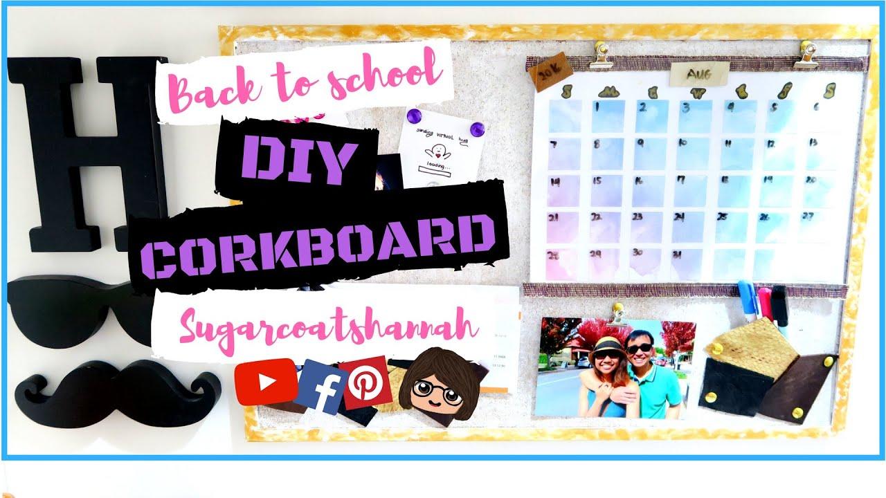 Diy Kpop Calendar : Back to school diy cork board calendar organizer sch