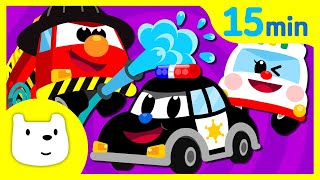 Tidi Car Songs♬ 자동차동요 영어동요 연속듣기 15분 ♪ | 인기동요 | 창작동요 | 티디 인기동요 연속듣기 X 지니키즈