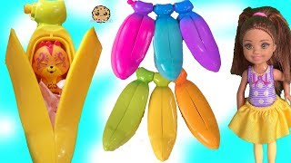 Rainbow BANANAS Peel Surprise Blind Bags with Mystery Animals ! Barbie Kid on the Farm