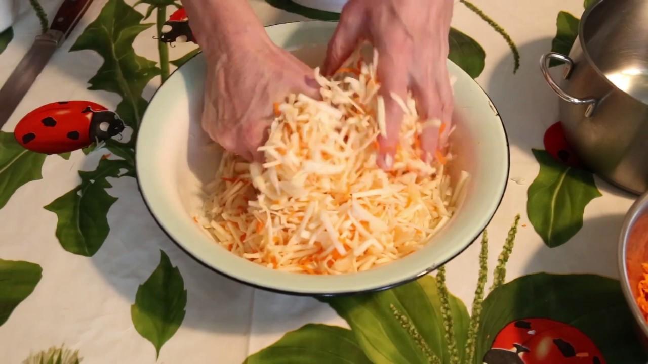 Квашеная капуста в домашних условиях Домашний способ