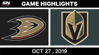 NHL Highlights   Ducks vs. Golden Knights – Oct. 27, 2019
