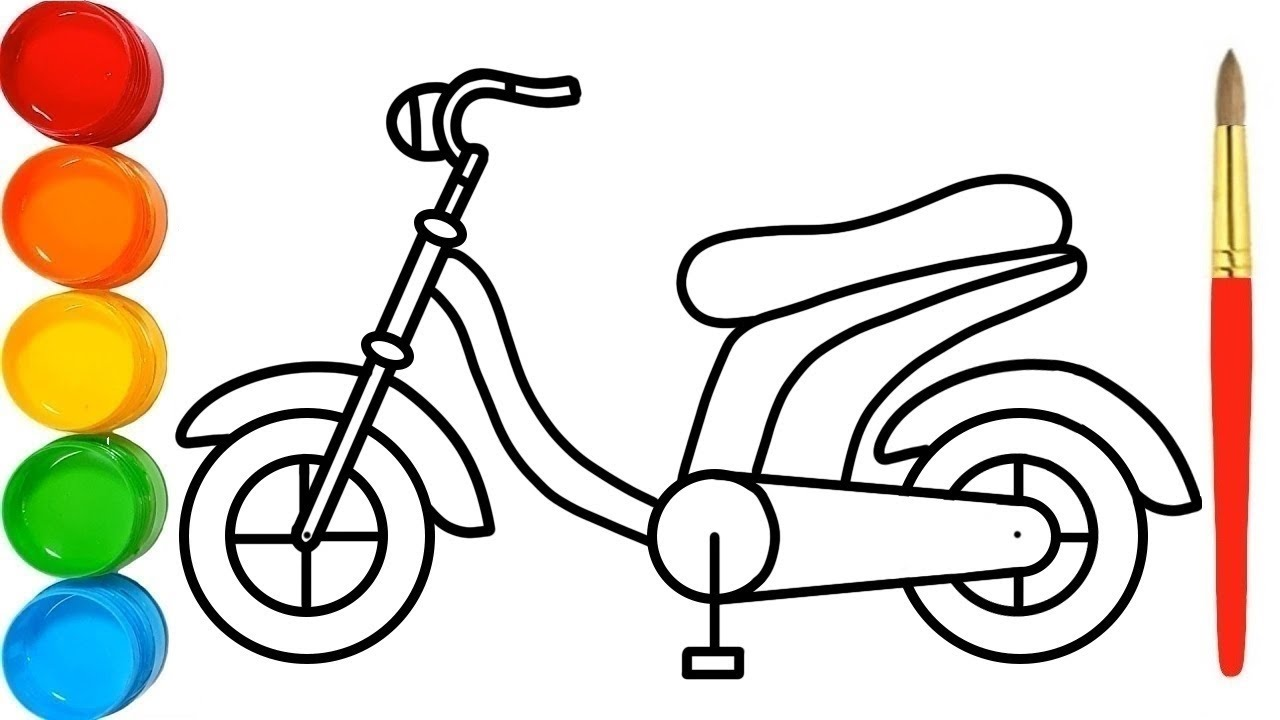 How to Draw Electric Bicycle and Paint Coloring Pages
