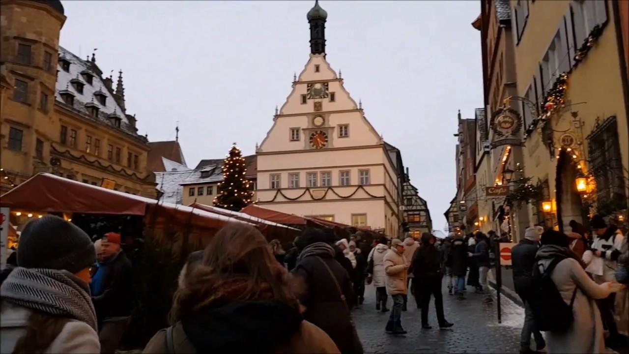 Weihnachtsmarkt Rothenburg Ob Der Tauber Part1 Christmas Markets Germany