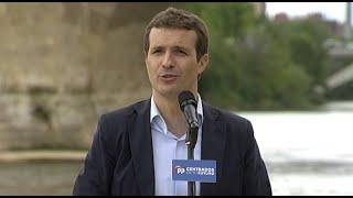 """Casado pide a Sánchez que deje de """"hacer gestos"""" al independentismo"""