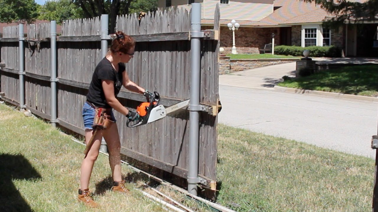 Building A Board On Board Cedar Fence Part 1 Youtube