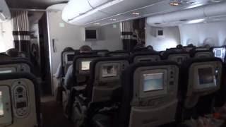 A380 heavy turbulence over the north Atlantic