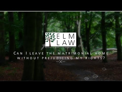 Download Can I leave the matrimonial home without prejudicing my rights?