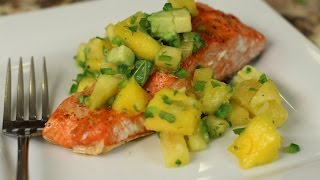Easy Grilled Salmon with Mango Pineapple Salsa