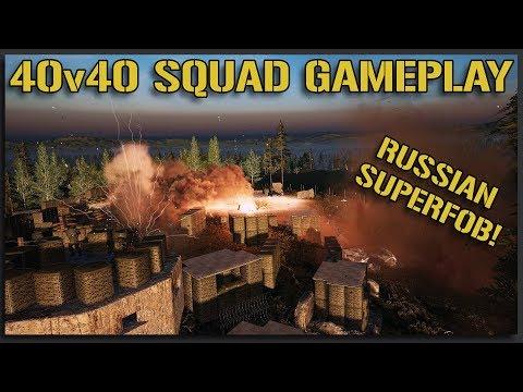 THE BIGGEST AMBUSH HILL SUPERFOB! - 40v40 Squad Gameplay