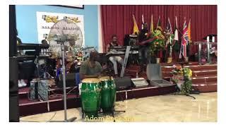 sound check for Adom Gospel Rock show Europe Edition inside Inside Italy