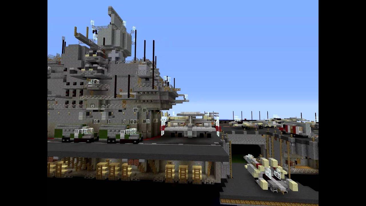 Ulyanovsk class carrier in minecraft