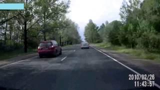Запись с видеорегистратора - ДТП на Псковской трассе